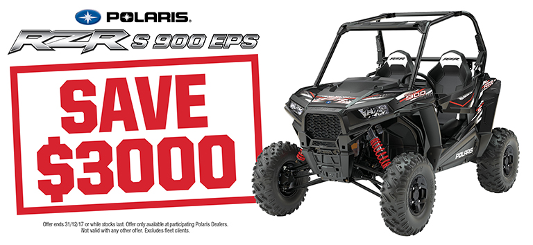 2017 Q4 Webslider_768x354_RZR S 900 EPS Save $3000