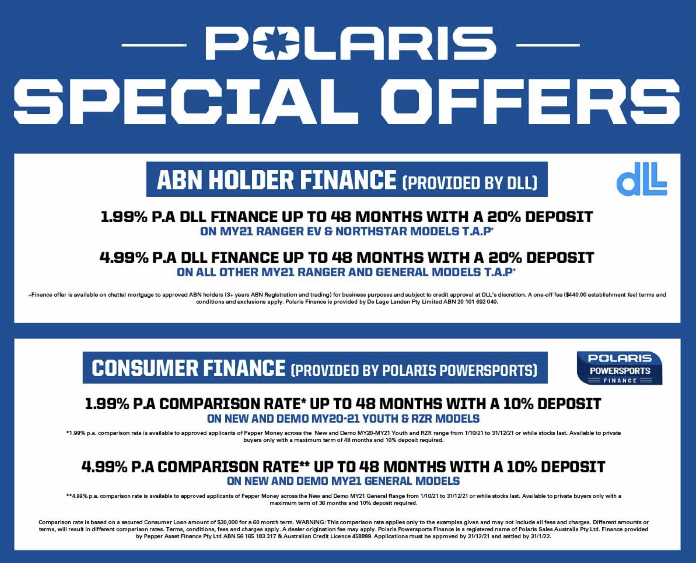 Polaris Special Offers